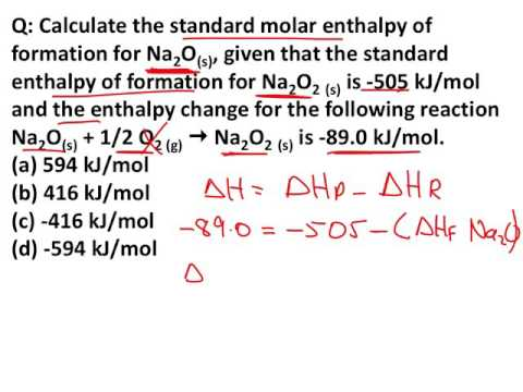 6.6 Standard Enthalpy of Formation and Reaction