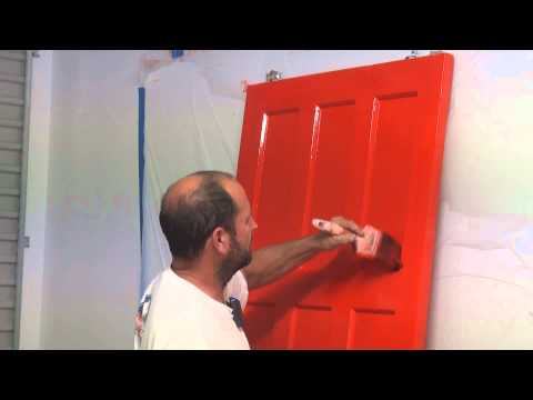 How To Paint A Panel Door - How to brush paint an interior paneled door using oil based paint..