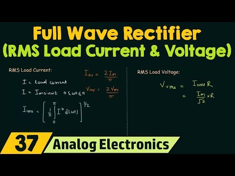 Full Wave Rectifier (RMS Load Current & RMS Load Voltage)