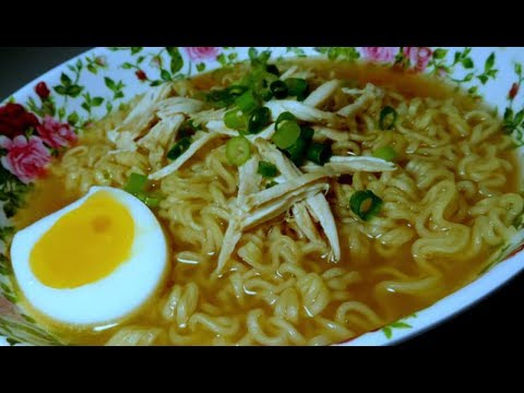 Student Hack : Quick Ramen Noodle Meal with Chicken and Egg