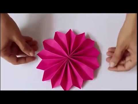 How to make Rectangle Paper to flower II no glue flower