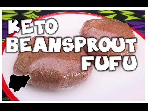 Ketogenic Nigerian Style│How to make Beansprout Eba Fufu Swallow│MakeItWithChichi Ep1