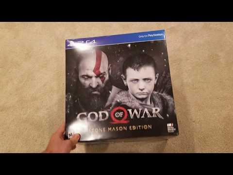 God of War PS4 Stone Mason Edition Unboxing