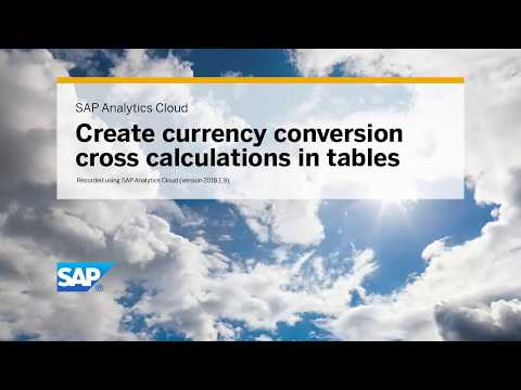 Create a currency conversion cross calculation in a table: SAP Analytics Cloud (2018.1.9)