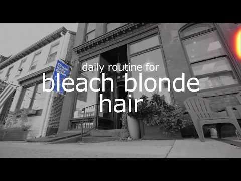 Daily Routine for Bleach Blonde Hair