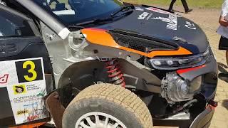 Alexey Lukyanuk - Citroen C3 R5 after SS 12 Rally Poland 30.06.2019