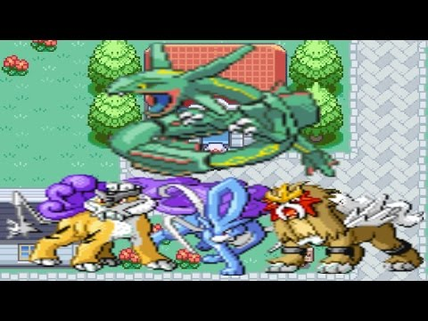 How to find Rayquaza, Entei, Suicune & Raikou in Pokemon Fired Red and Leaf Green!!