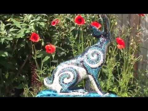 Suzie Emery Mosaic Hare Sculpture Movie
