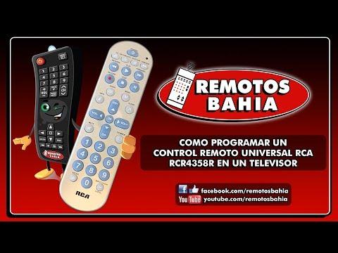 CÓMO PROGRAMAR UN CONTROL REMOTO UNIVERSAL RCA RCR4358R
