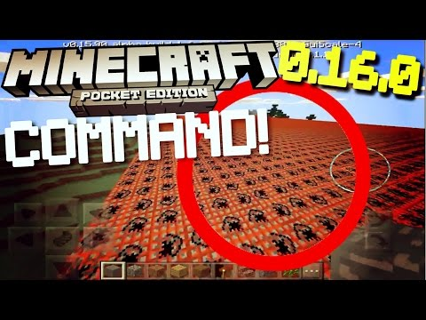 ✔️MCPE 0.16.0 - /FILL COMMAND! // One of the BEST 0.16.0 commands! [Minecraft PE 0.16.0 BETA]