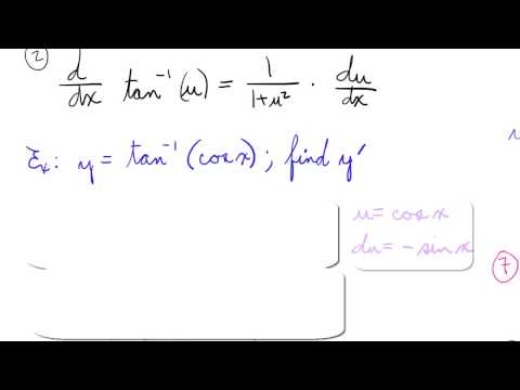 Derivative of Inverse Tangent (Arctan) with example
