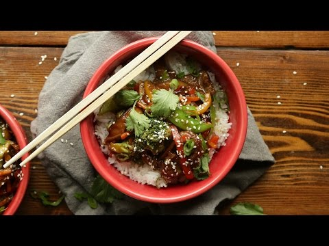 30 Minute Beef Stir Fry with Vegetables and Rice | The Inspired Home
