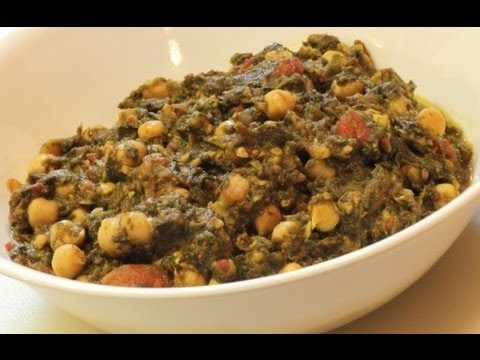 Chole Palak (chickpea and spinach recipe)