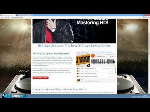 How To Make DJ Drops Online - DJ Drops Live Simple Process