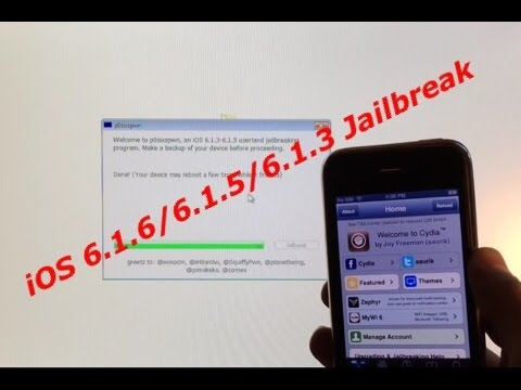 iOS 6.1.6, 6.1.5, 6.1.4, and 6.1.3 Untethered Jailbreak for All iDevices - Windows and Mac