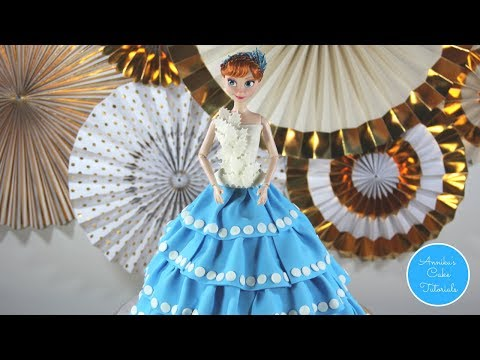 Anna doll cake | Olaf's frozen adventure | Disney cake DIY | Part 1
