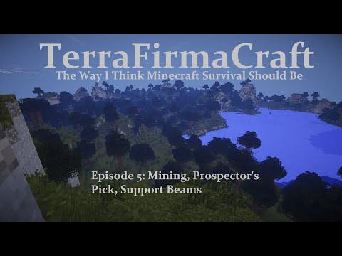 Mining, Prospector's Pick, Support Beams - TerraFirmaCraft Ep 5