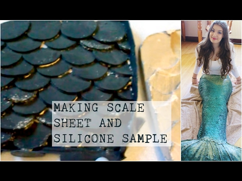 DIY Silicone Mermaid Tail Tutorial #1 - Making Scale Sheet And Scale Sample