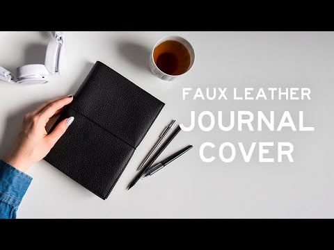 DIY Faux Leather Journal Cover