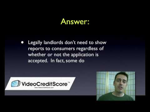 Tenants Credit Reports and Credit Scores for Landlords