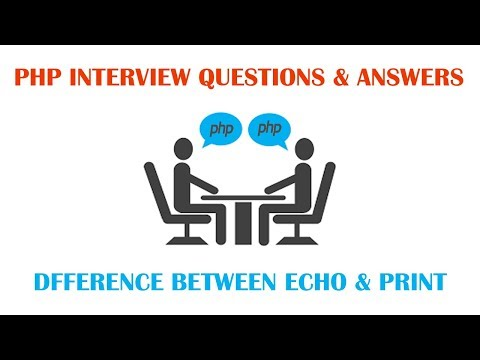 PHP Interview Question & Answers - Difference Between echo and print