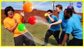 CRAZY DODGEBALL GAME ! ORANGE TEAM VS BLUE TEAM