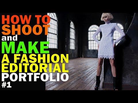 How to shoot and make a fashion portfolio どのようにファッション誌を撮影するか - how to make a photo portfolio