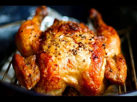 Delicious and healthy recipe for baked/oven roasted whole chicken