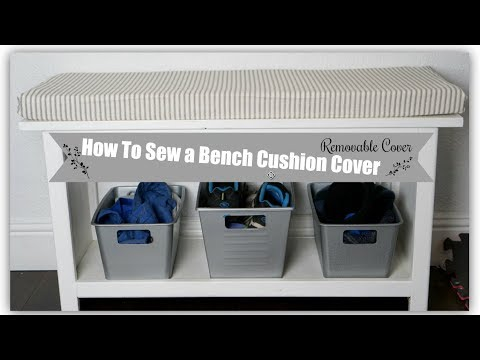 HOW TO SEW A BENCH CUSHION COVER   EASY DIY SEWING   Momma from scratch
