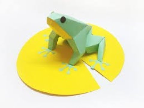 How to Fold the world record paper frog | Jump long distance