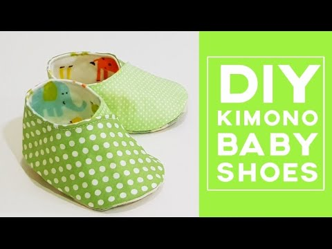 Diy Kimono Baby Shoes | Free template download | 和服式婴儿鞋制作分享 ❤❤
