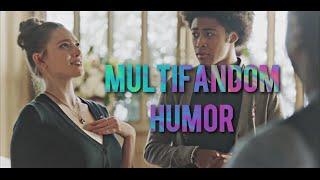 "multifandom humor   ""is she really this short?"""