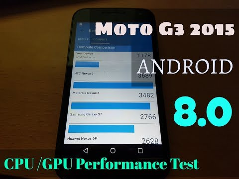 Moto G3 ANDROID 8.0 Oreo CPU/GPU Performance Test