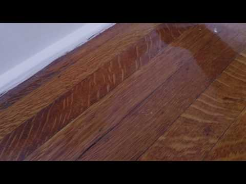 Removing paint dots from hardwood floor without sanding