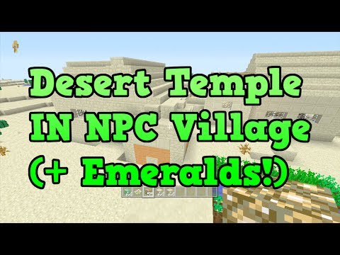 Minecraft Xbox 360 TU14 SEED: Desert Temple IN Desert Village