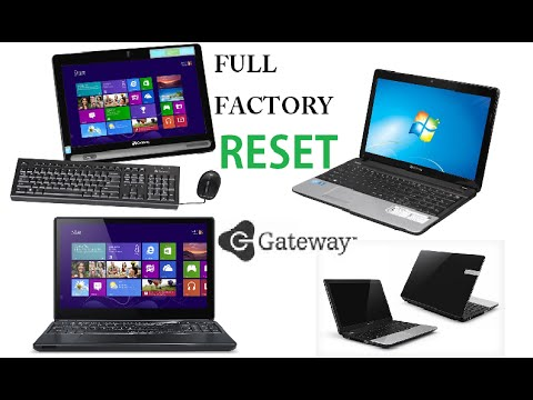 Gateway Laptop Factory Restore Reinstall Windows Reset NV NE DX FX LT KAV SA1 MX NX ZX NV79 M Series