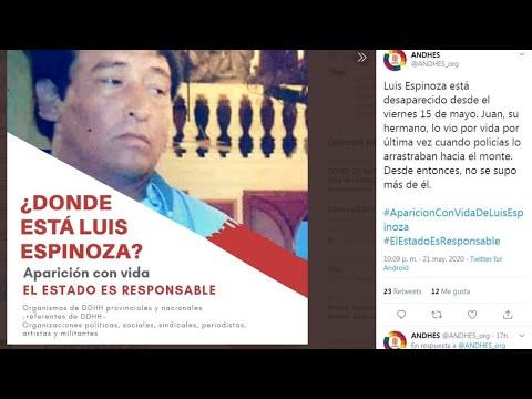 Tucumán: denuncian la desaparición forzada de Luis Espinoza