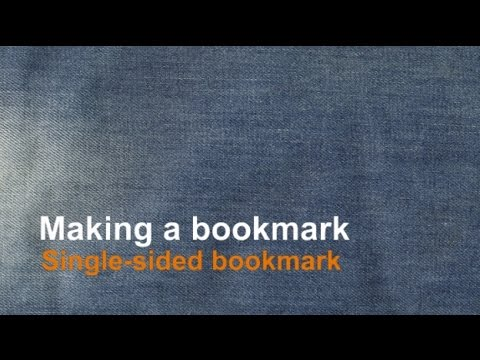 Making a single sided bookmark using Word
