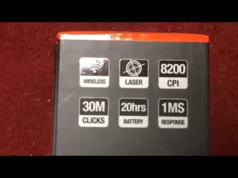 SteelSeries Sensei Wireless Laser Mouse 開封動画