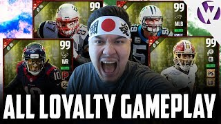 ALL 4 LOYALTY PLAYERS ON THE SQUAD!!! GLITCHIEST PLAYERS IN THE GAME? - MADDEN 17 LOYALTY GAMEPLAY