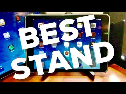 BEST TABLET STAND for iPad Pro!! Review (AmazonBasics Adjustable Tablet Stand)