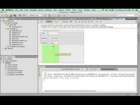 Creating a basic Database SWING App with NetBeans 4 of 6