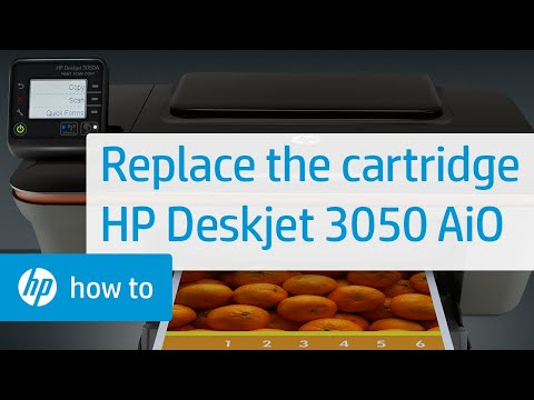 Replacing a Cartridge - HP Deskjet 3050 All-in-One Printer