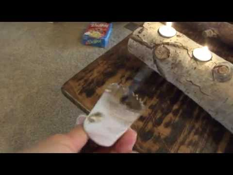 Can Be Thrifty Rustic Log Tea Light Candle Project