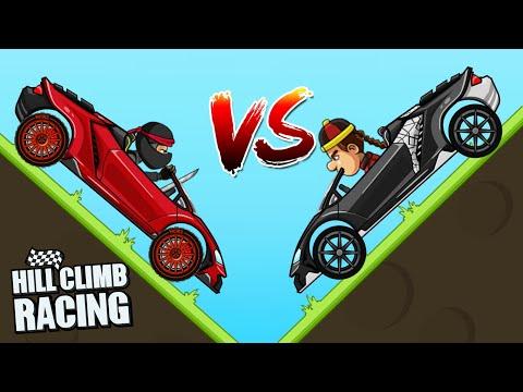 Red Lambo Vs Black Lambo | Hill Climb Racing 1