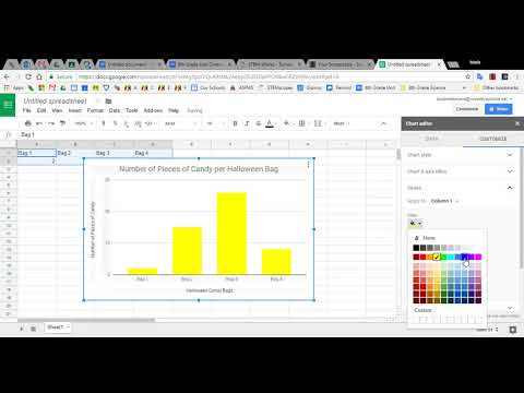 Making a Simple Bar Graph in Google Sheets 12/2017