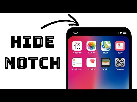 How To Hide iPhone X Notch - Simple Trick!