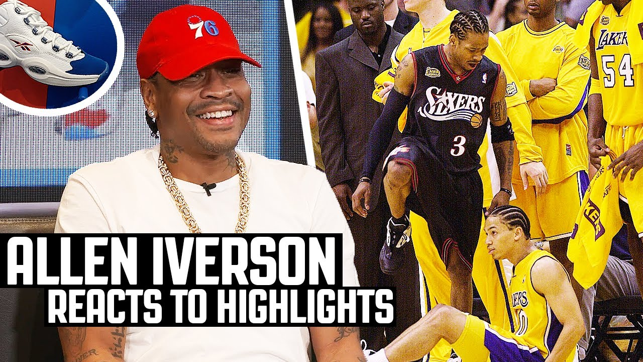 Allen Iverson Reacts To Allen Iverson Highlights!   The Reel