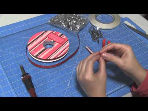 How to line alligator clips with double sided tape and ribbon