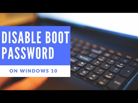 How To- Enable or Disable BIOS/Power On Password on Windows 10